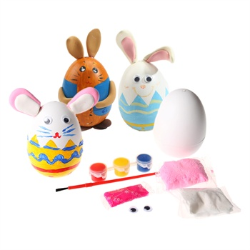 创意制作diy材料包幼儿自制不倒翁兔子儿童益智玩具