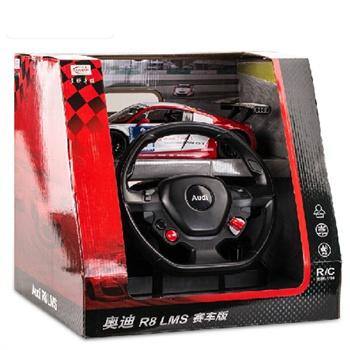 星辉车模1:14 奥迪r8赛车版 方向盘重力感应遥控车 车模 玩具汽车4751