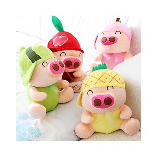 麦兜水果猪 毛绒玩具公仔 可爱超大号布娃娃 生日礼物