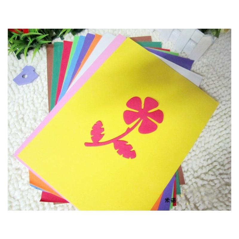 泡沫纸 压花器专用纸 彩色a4海绵纸智慧树波波手工必备 手工纸 压花器