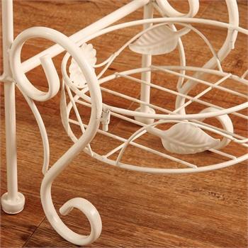 欧式多层铁艺花架室内白色盆景架落地式花盆
