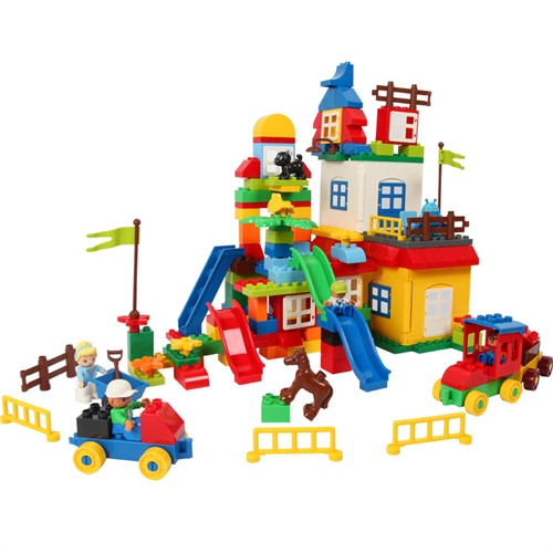 大块幼儿园榉木积木 搭建积木111片超大型建筑