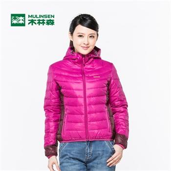 木林森户外羽绒服冬季女款素色羽绒衣轻薄款保暖连帽