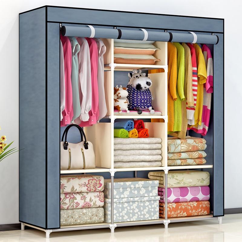 叠简易挂式布衣柜