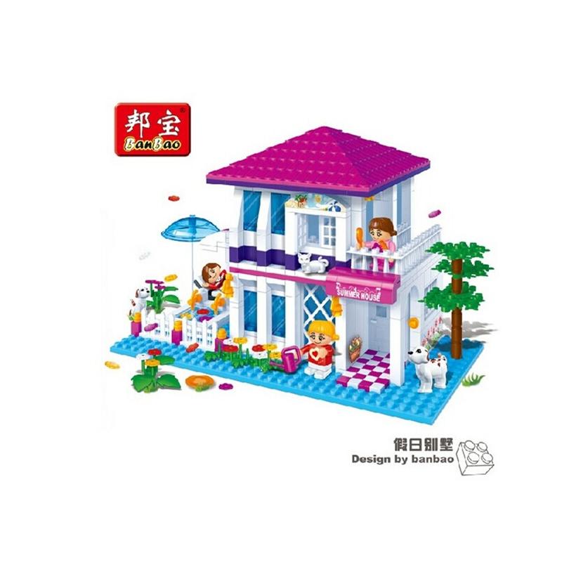 假日别墅6105乐高式拼插积木玩具
