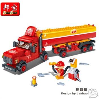 邦宝积木拼装益智小颗粒积木儿童玩具汽车运输油罐车葫芦娃七积木兄弟游戏下载图片