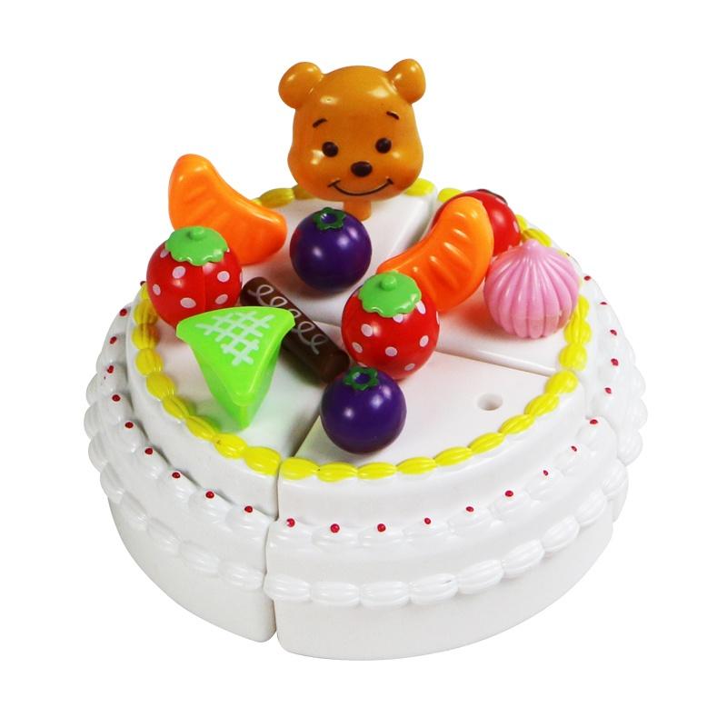 【绿之爱彩泥】儿童过家家玩具仿真生日水果蛋糕益智