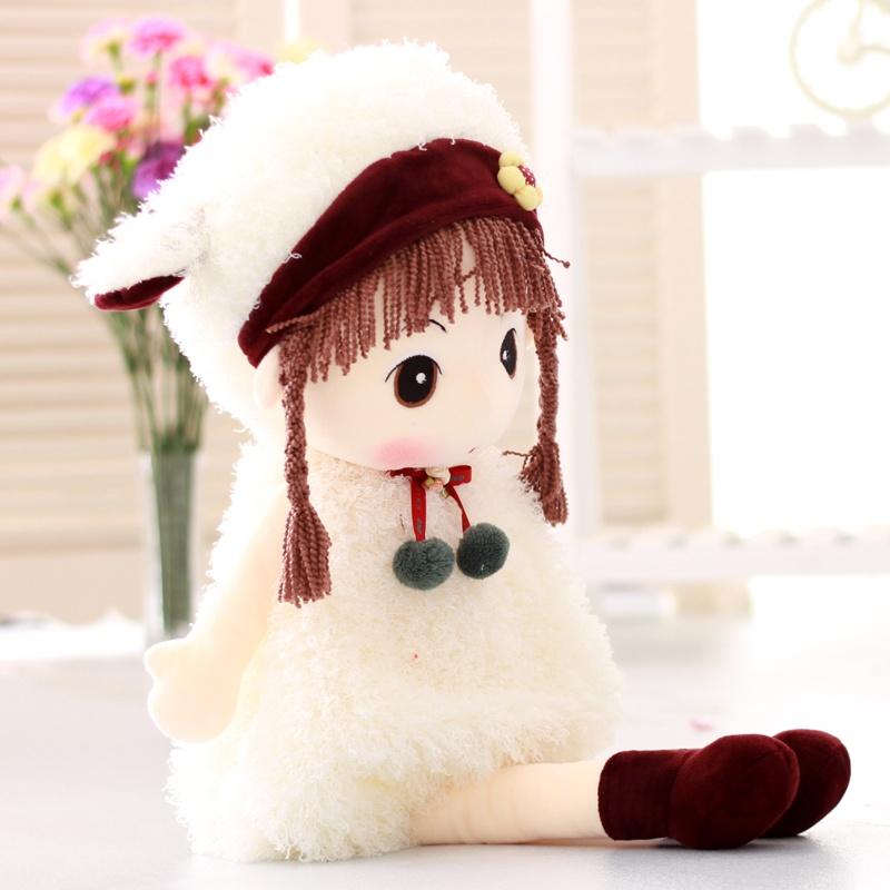 可爱 卡通女孩儿 公仔 毛绒玩具 布娃娃 公仔 玩偶 生日礼物_白羊95cm