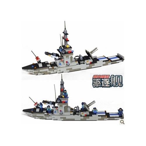 沃马乐高式积木拼装积木驱逐舰拼插图纸军舰玩具打印徐汇区图片