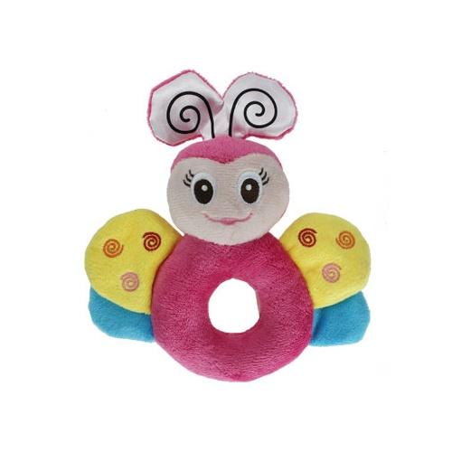 正品melon 可爱的动物造型宝宝圆手摇铃 礼盒装四款可
