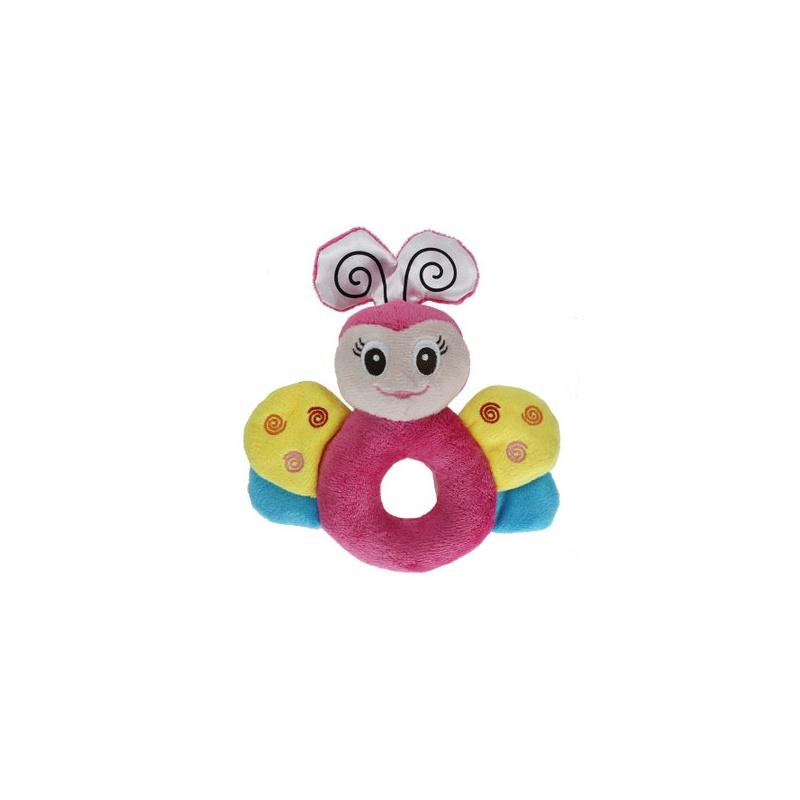 正品melon 可爱的动物造型宝宝圆手摇铃 礼盒装四款可选 婴儿玩具