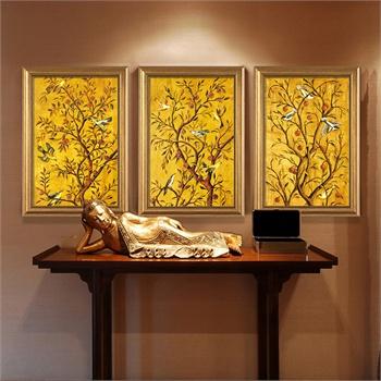 金色伊甸园欧式客厅装饰画玄关墙壁挂画