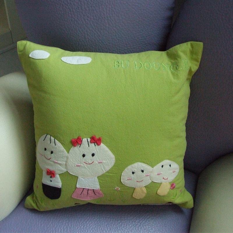 抱枕贴图 欧式 绿色