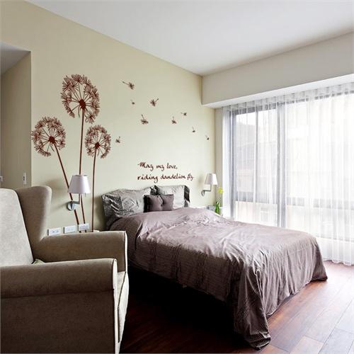 蒲公英 客厅沙发电视墙卧室浪漫温馨背景墙