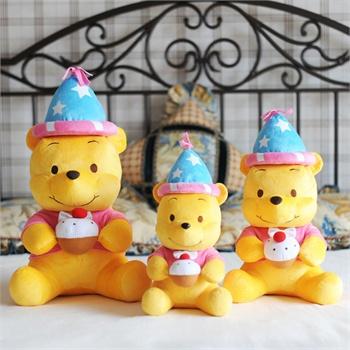 迪士尼正品 蛋糕维尼熊 蛋糕猪公仔 可爱玩偶玩具创意