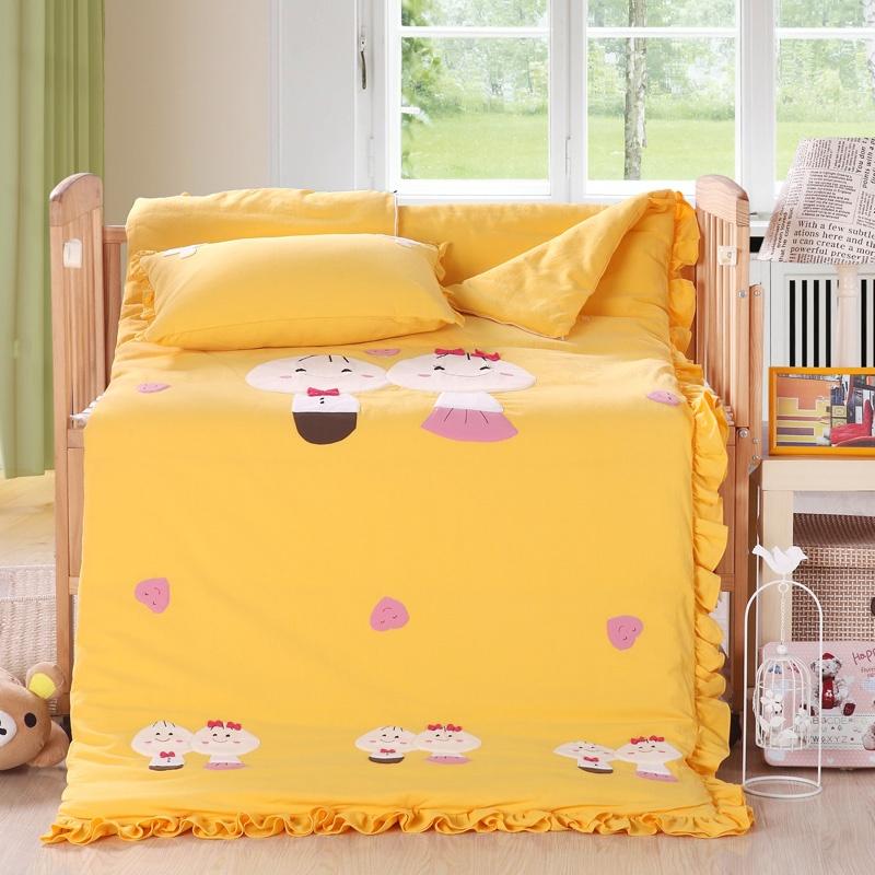 宝宝婴儿睡袋 秋冬厚款 儿童婴儿防踢被 韩国砂洗棉贴布绣两用被子_好