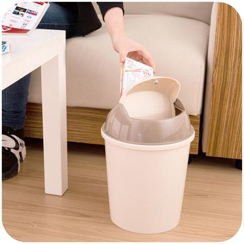 简家 时尚家用垃圾筒 摇盖垃圾桶6.2l 欧式卫生间卧室