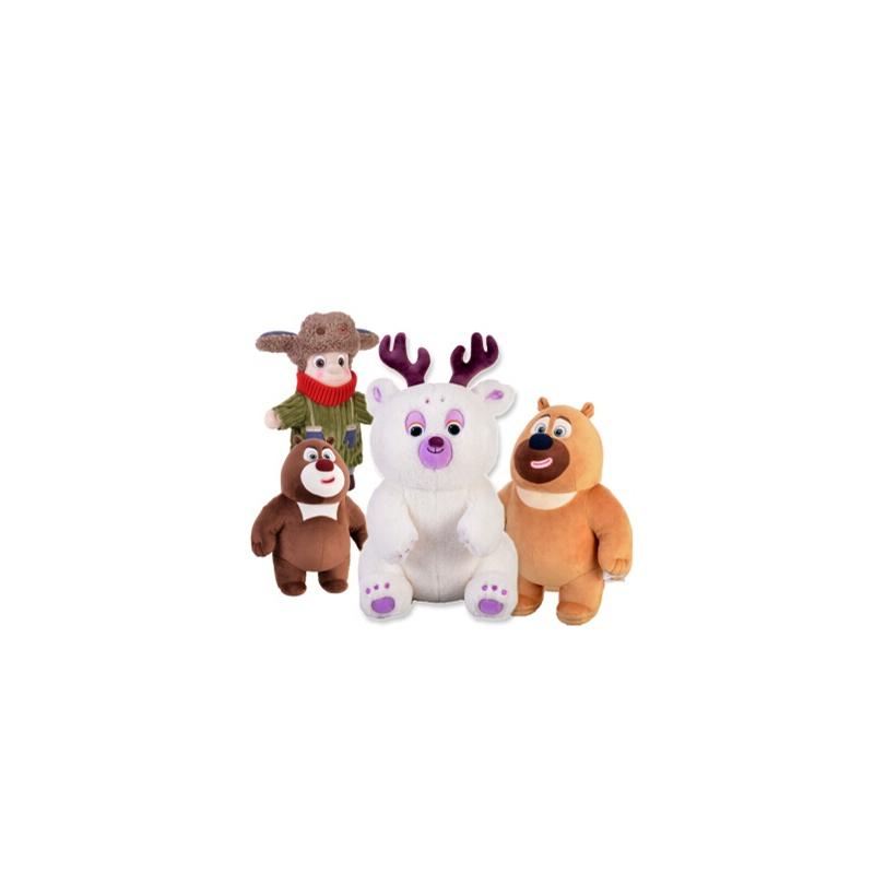 正版熊出没雪岭熊风团子熊大二光头强毛绒玩具公仔少年版儿童生日礼物