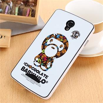 时尚可爱卡通手机套 oppo r2017硅胶保护套 大黄蜂卡通系列_白底猴子