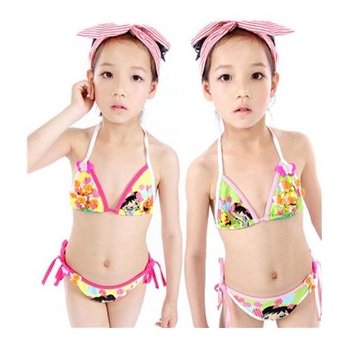 【女童韩国可爱新款游泳衣分体