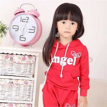 翅膀女孩运动套装 儿童套装