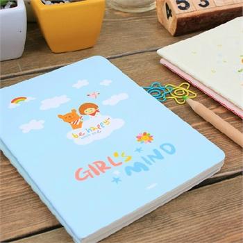 慕拉 韩国文具小清新可爱小笔记本空白纸随身记事本子本子创意645