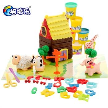 安全 面粉/培培乐儿童玩具彩泥3d橡皮泥安全面粉软陶粘土套装带模具礼物
