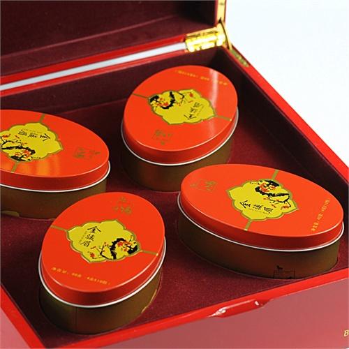 八马 红茶 金骏眉 八马 凤翎红色实木礼盒 特级武夷山