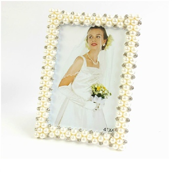 复古珍珠摆台田园相框欧式创意相架6寸