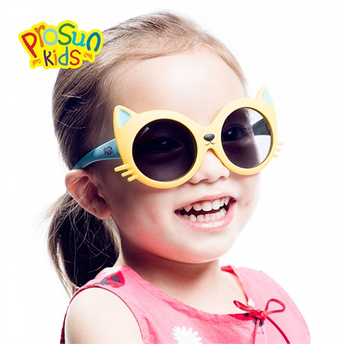 2014新款 儿童偏光太阳镜 男童女童宝宝 蛤蟆镜 可爱小猫咪 舒适墨镜