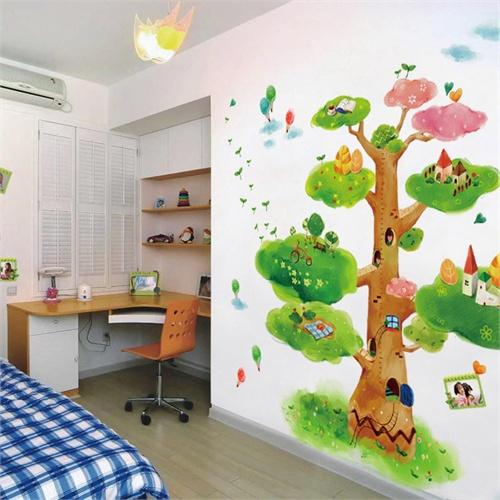 背景墙卡通手绘墙
