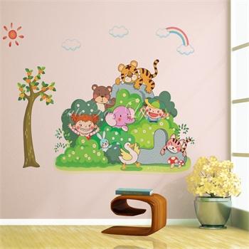 和谐之美墙贴可移除墙壁装饰画墙纸客厅卧室床头家居