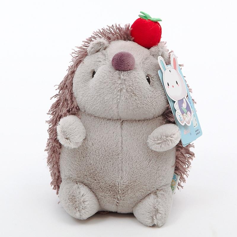 【蓝白玩偶情侣水果可爱呆萌小刺猬毛绒玩具小公仔