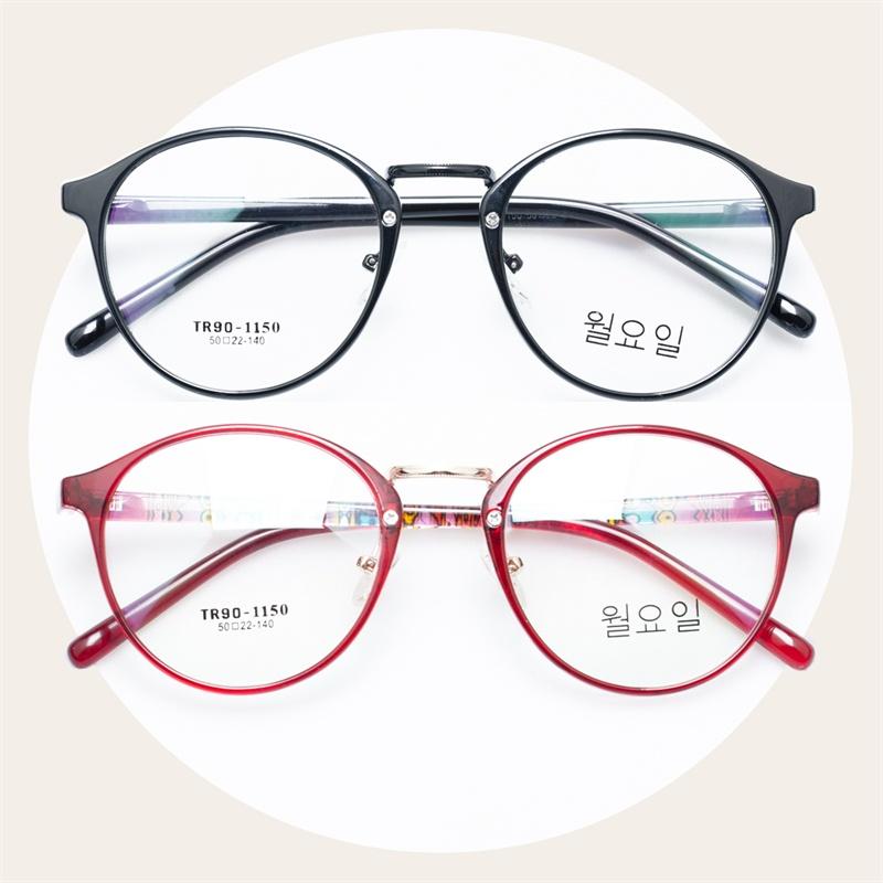 文艺复古眼镜框小清新韩国进口tr90红色碎花近视镜款