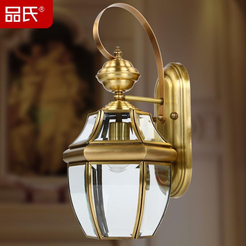 奢华欧式壁灯欧式全铜灯过道走廊庭院灯室外阳台工艺