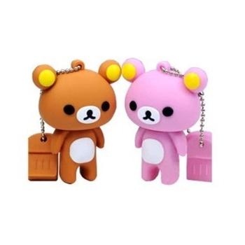 (创新科技)创意u盘 轻松熊 卡通优盘 可爱小熊 情侣礼品u盘4g足量正品