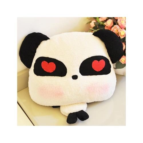 涩咪咪 毛绒玩具 熊猫靠垫 可爱表情抱枕 生日儿童节礼物