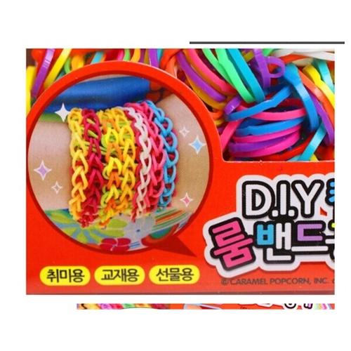 韩国彩虹编织工艺皮筋儿童diy手工制作玩具女孩织造手镯手链手绳,好玩