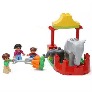 大颗粒积木 益智积木拼插玩具 拼装玩具 拼插模型 开心动物园1275