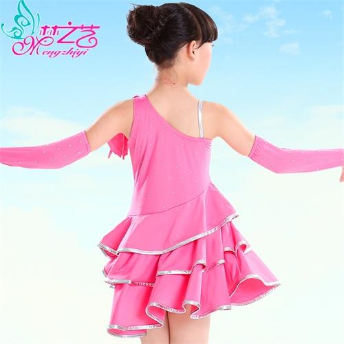 拉丁舞裙 女 儿童拉丁舞服装女童舞蹈服装练功服新款