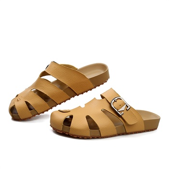 2014新款真皮拖鞋 男潮流夏季男士拖鞋沙滩鞋包头