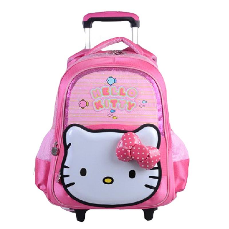 hello kitty凯蒂猫 小学生拉杆书包学生书包双肩书包减负书包hk3090