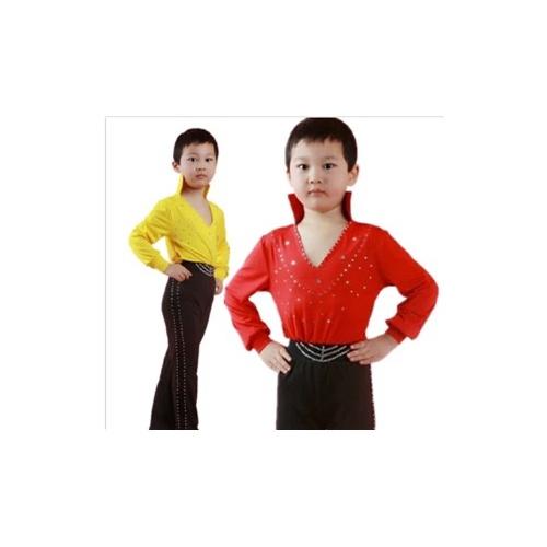 儿童拉丁舞服装新款男童拉丁舞表演服男生拉丁舞舞台