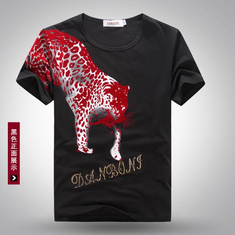 【乔安人t恤】2014夏装新款圆领街头摇滚潮流t恤动物