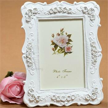 白色欧式复古结婚纱照摆台 韩式树脂相片框 韩国田园相框 v4206-1
