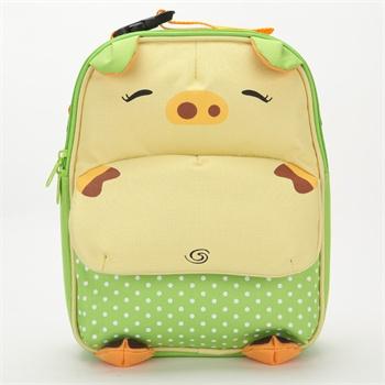 新品上市 skinly时尚可爱卡通猪造型保温午餐包 妈咪便当袋双肩包