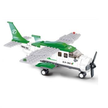 乐高式拼装益智玩具 智力玩具积木 小型运输机m38-b0362 飞机积木玩具