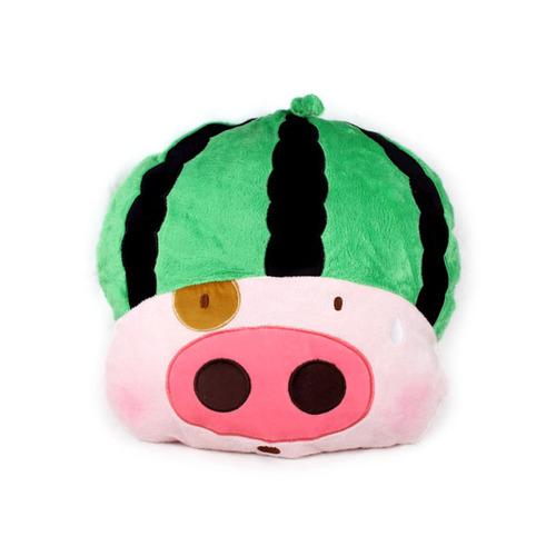 麦兜猪诱人水果舒适靠垫(西瓜)