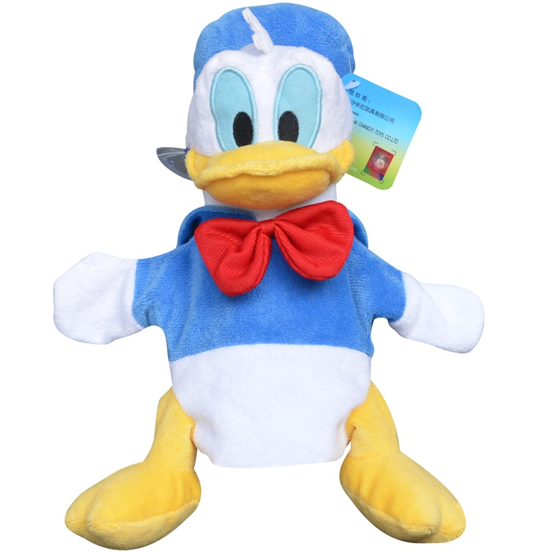 迪士尼时尚手偶 益智宝宝毛绒手套 安抚指偶娃娃玩具可爱礼物 早教