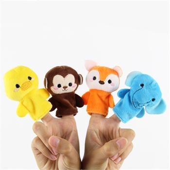 金洋创意超可爱超萌 手指娃娃 套手毛绒玩具 动物手偶